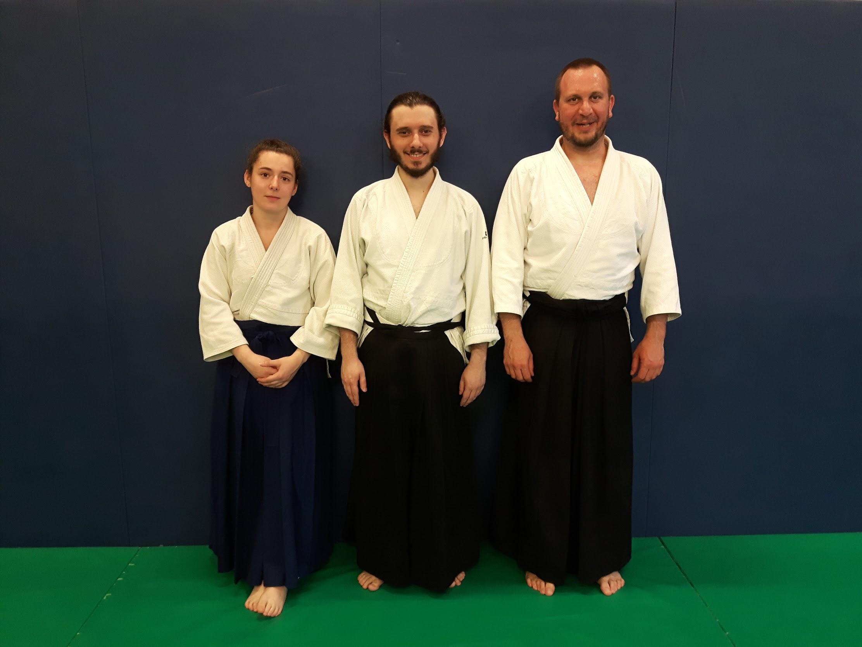 Félicitations à nos 3 nouveaux porteurs de hakama!